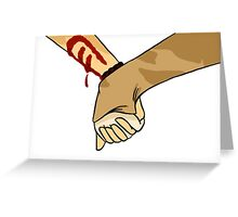 hold hands with me Greeting Card
