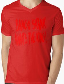 Bango Skank Awaits The King Mens V-Neck T-Shirt