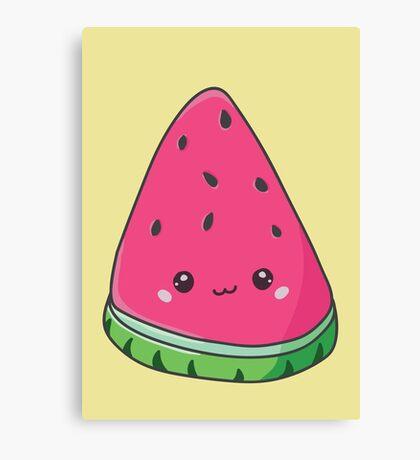 Cute Kawaii Watermelon Canvas Print