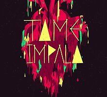 Tame Impala Bleeding heart album mind mischief by frenchorange