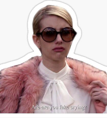Fake Crying Scream Queens Sticker