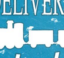 Free Delivery at Frankenberg's - worn variant  Sticker