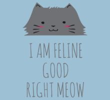 I am feline good right meow #2 Kids Tee