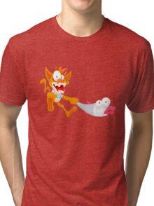 Cat and fish Tri-blend T-Shirt