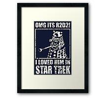 R2-D2 Star Trek Dalek Framed Print