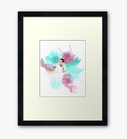 One Flew Over the Cuckoo's Nest Watercolor Framed Print