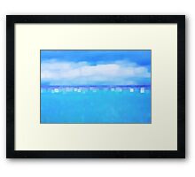 Sea and Sky Abstract Framed Print