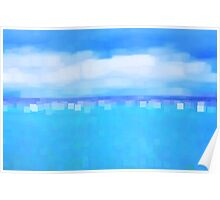 Sea and Sky Abstract Poster