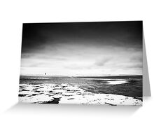 Beach Lubmin - Winter Study IV Greeting Card