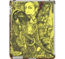Black-and-yellow gap iPad Case/Skin