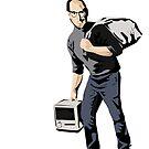 Banksy Steve Jobs Calais refugee by 2piu2design