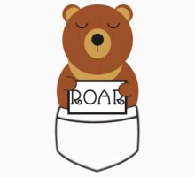 Hear the roar of the pocket bear Kids Clothes