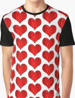 Heart With Grungy Bevelled Texture Graphic T-Shirt