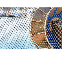 The fishing net lying in the sun. Photographic Print