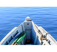 Bow of the boat with the star. Photographic Print
