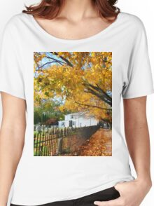 Graveyard in Autumn Women's Relaxed Fit T-Shirt