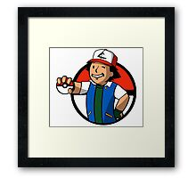 Trainer Boy Framed Print