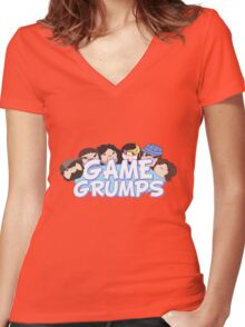 The Game Grumps T-Shirt Women's Fitted V-Neck T-Shirt