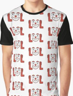 Laughing Out Loud Illustration Graphic T-Shirt
