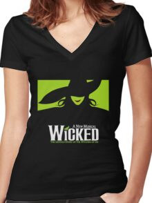 Wicked Broadway Musical - Untold Story about Wizard Of Oz - T-Shirt Women's Fitted V-Neck T-Shirt