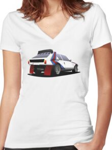 Delta S4 (car) Women's Fitted V-Neck T-Shirt