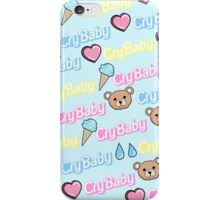 ♡CRY BABY PRINT- PASTEL BLUE♡ iPhone Case/Skin