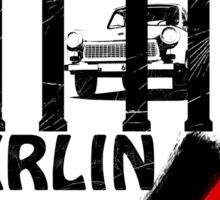 berlin, germany flag, trabant Sticker
