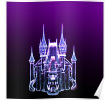 Glowing Fantasy Castle Poster