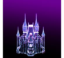 Glowing Fantasy Castle Photographic Print