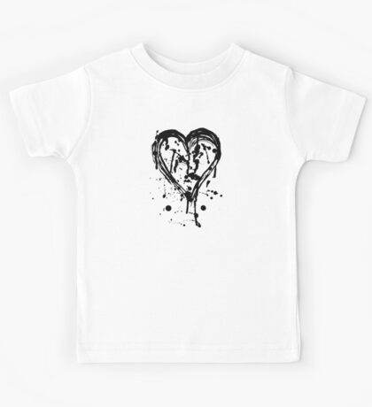 Black ink heart Kids Tee