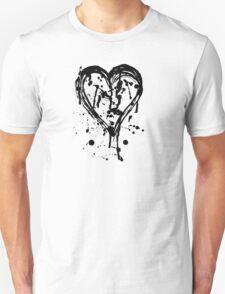 Black ink heart Unisex T-Shirt