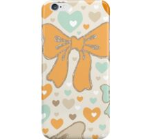 Seamless pattern with bows and hearts. iPhone Case/Skin