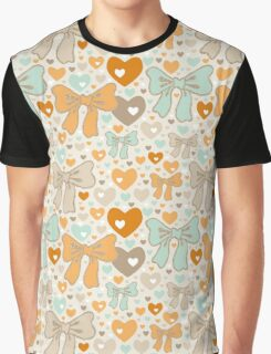 Seamless pattern with bows and hearts. Graphic T-Shirt