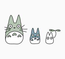 Totoro Pattern  One Piece - Short Sleeve