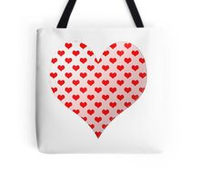 Heart Patterned Hearts Shape Tote Bag