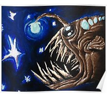 Angler Fish in the Stars  Poster