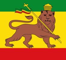 Custom Rastafarian Flag of Ethiopia Lion of Judah Sticker