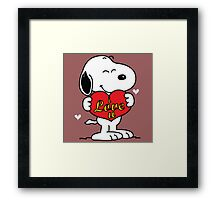 Snoopy Valentine Day Framed Print