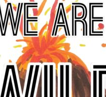 """Young Volcanoes- Fall Out Boy """"We Are Wild"""" Design  Sticker"""