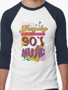 90's Music Men's Baseball ¾ T-Shirt