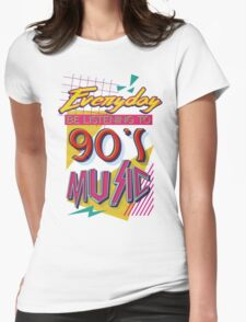 90's Music Womens Fitted T-Shirt