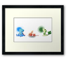 Starters from different generations  Framed Print