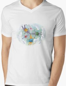 Skydivers Mens V-Neck T-Shirt