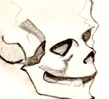 Sarcastic Skull Sticker