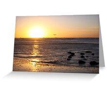 Sunset North-Sea Greeting Card