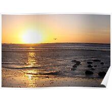 Sunset North-Sea Poster