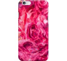 Abstract Red Rose painting iPhone Case/Skin