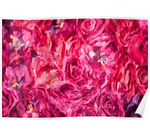 Abstract Red Rose painting Poster