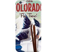 Colorado Ski travel poster iPhone Case/Skin