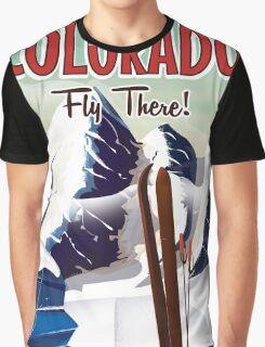 Colorado Ski travel poster Graphic T-Shirt